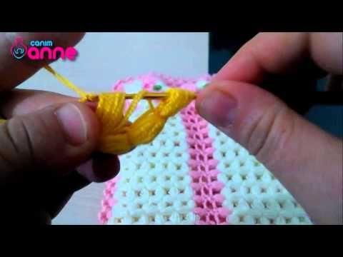 Lale ve gül desenli lif modeli yapılışı - YouTube