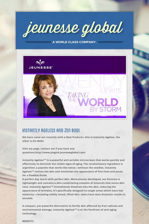 Help spread the word about jeunesse global. Please share! :)