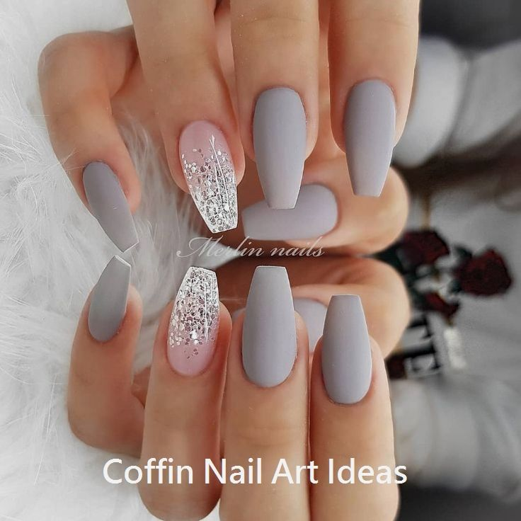 20 Trendy Coffin Nail Art Designs #coffinnails #naildesign