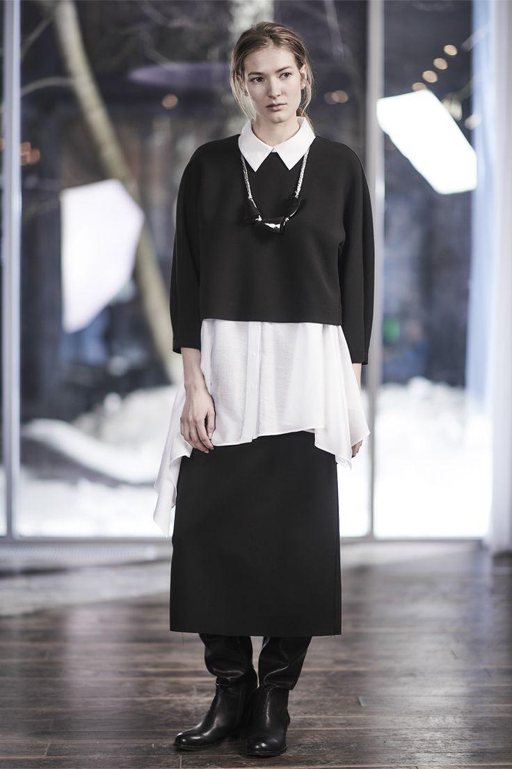 Купить Блуза Овал, короткая от Lesel (Лесель) российский дизайнер одежды