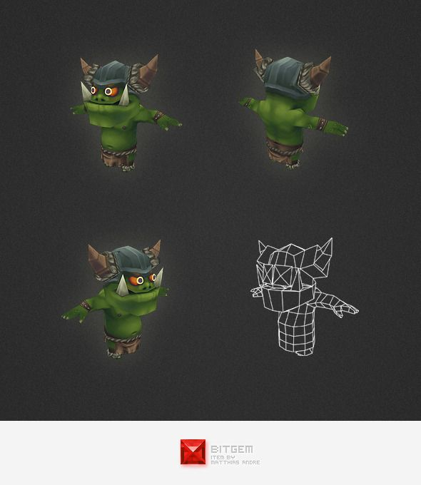Low Poly Orc Worker - 3DOcean Item for Sale