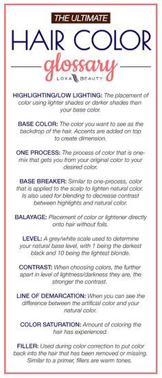 10 Hair color terms you need to know now