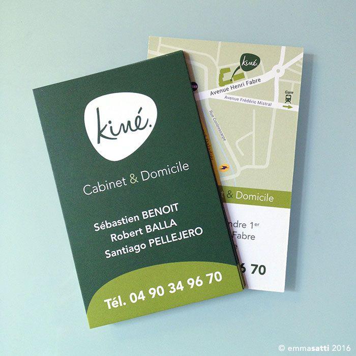 Cabinet Kiné à Orange Logo + cartes de visite