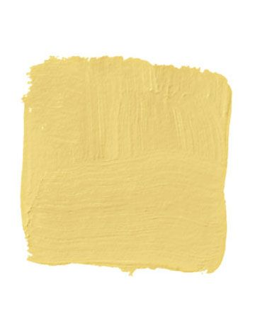 """""""It's one of those spaces that people go through quickly, so you can afford a higher level of drama. Often there's no natural light, so you need a heavily saturated color like this warm, yolky yellow. Get it in full gloss, because the gloss gives it depth and it's much more simple to apply than glazing."""" -CHRISTOPHER DRAKE: BENJAMIN MOORE SHOWTIME 923"""