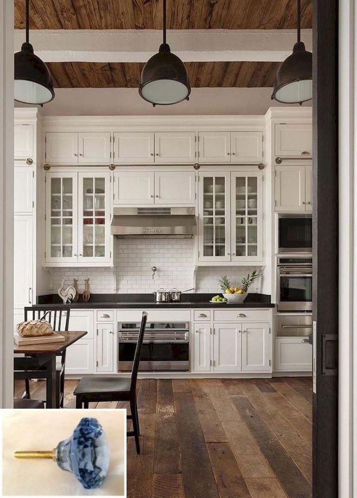 Dark Light Oak Maple Cherry Cabinetry And White Laminate Kitchen Cabinets With Woo Farmhouse Kitchen Design Farmhouse Style Kitchen Small Farmhouse Kitchen