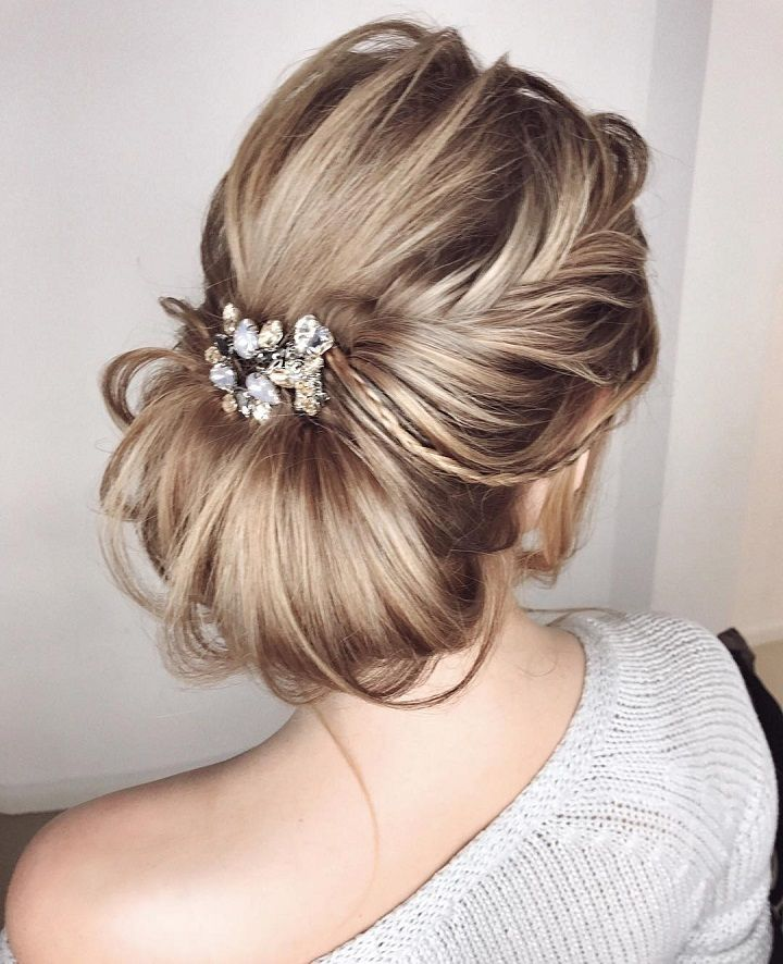 Loose braided updo hairstyle ideas ,bridal chignon hairstyle,dutch crown braided updo