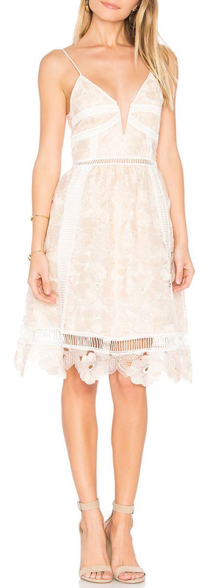 Sweet blush lace dress