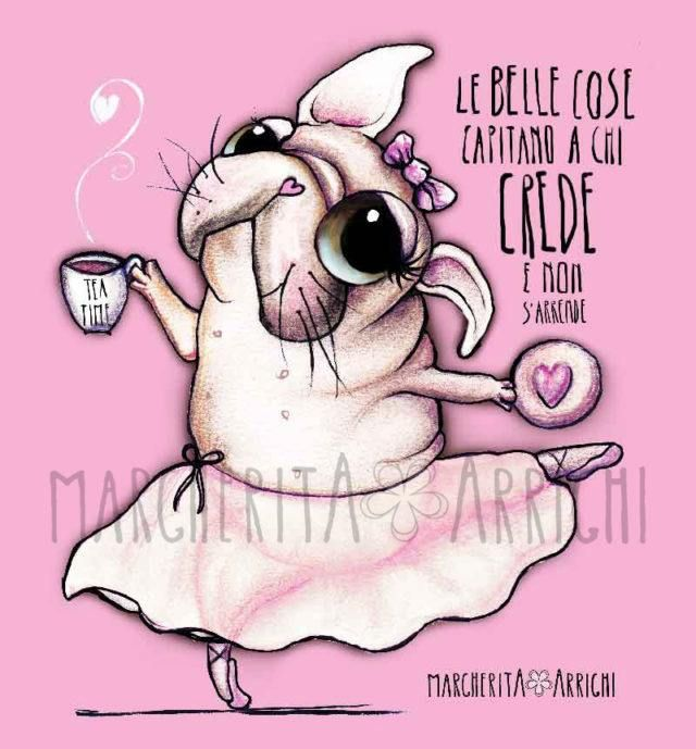 E' una bulldog francese o una carlina? illustrazione Margherita Arrighi - Margherita Arrighi