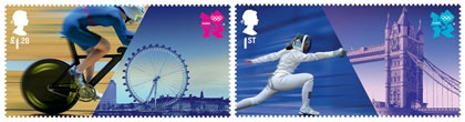 post stamps for London 2012 Olympic Games, by Hat-trick studio #design #DiseñoGráfico #graphisme #disegno #desenho