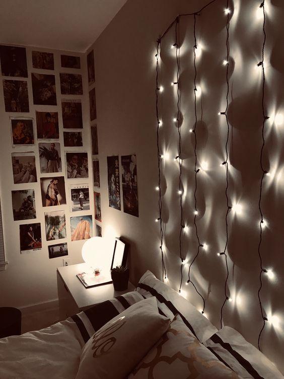 led lights on wall