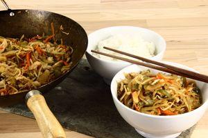 Kylling med grønsager (Wok) 4