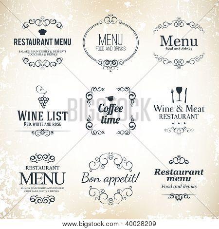 Otsikko asetettu Ravintola menu suunnittelu