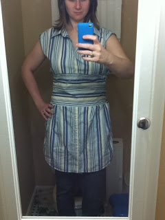 Upcycled Mens Shirt to Womens Dress