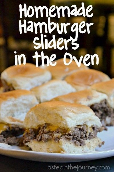 Dinner tonight! Delicious hamburger sliders you can make in the OVEN! You don't even need the grill.
