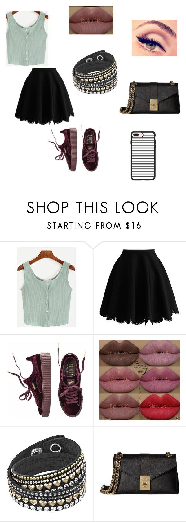 """""""Sem título #221"""" by kamillylima ❤ liked on Polyvore featuring Puma, Kylie Cosmetics, Calvin Klein and Casetify"""