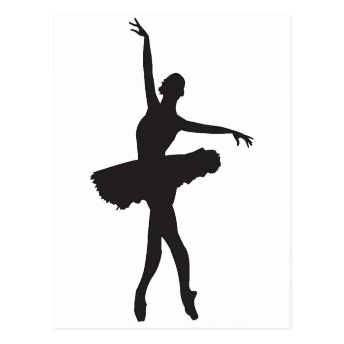 Ballet Dancer Ballerina Silhouette Png Postcard Zazzle Com Ballerina Silhouette Dance Silhouette Dancer Silhouette