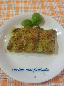 Lasagna con pesto ai broccoli
