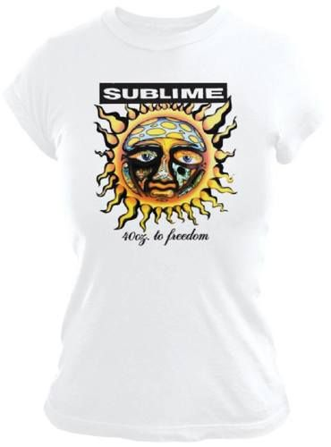 Sublime Album Cover T-shirt - 40 Oz to Freedom Artwork | Women's White Shirt