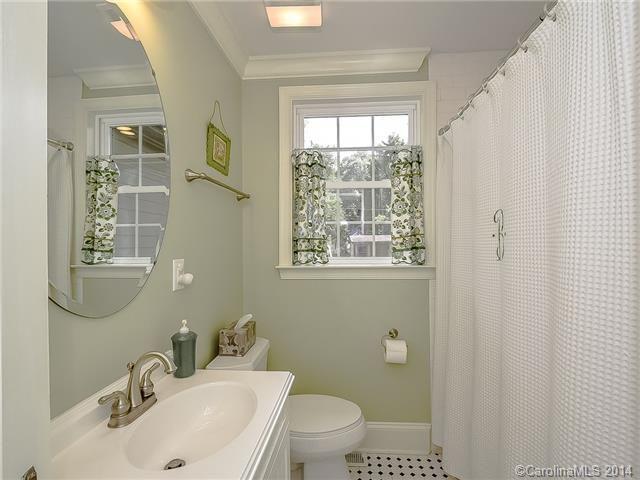 Cottage Full Bathroom With Flush Light Spancraft Glass Regency Frameless Mirror Corian Counters