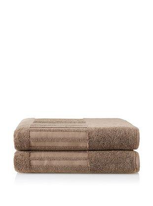 50% OFF Garnier-Thiebaut Set of 2 Bath Sheets, Reglisse