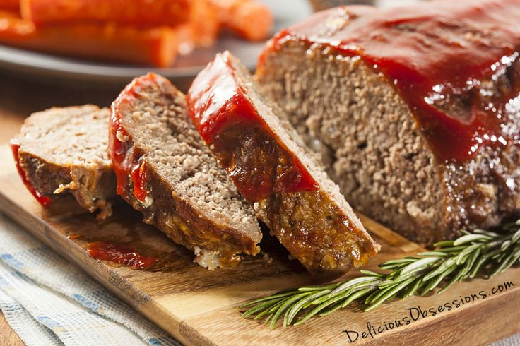 Basic Grass-fed Beef Meatloaf Recipe // deliciousobsessions.com