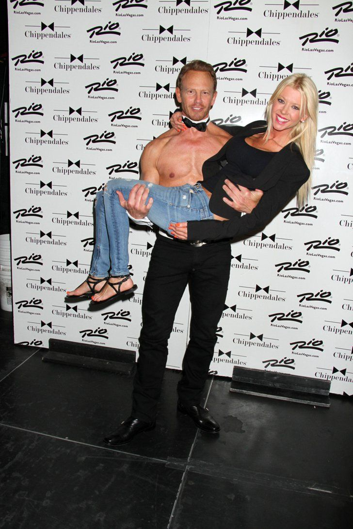 Pin for Later: This Weekend's Must-See Snaps!  Tara Reid got a special treat when she hung out with Ian Ziering at his Chippendales event in Las Vegas on Saturday.