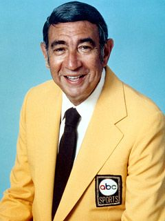 "Howard Cosell (1918 - 1995) Television Sportscaster. He gained wide fame and acclaim during his tenure as a football commentator on ABC's ""Monday Night Football""."