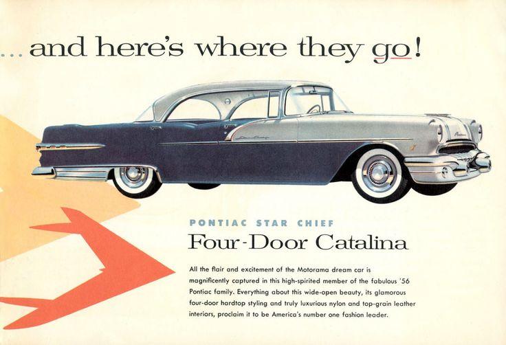 17 best images about pontiac car ads on pinterest cars for 1956 pontiac 4 door hardtop