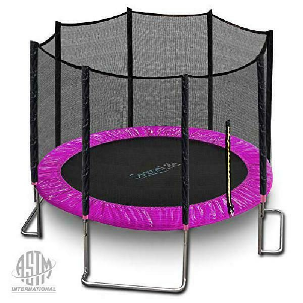Backyard Kids Trampoline W Encosure Net Large Outdoor Jumping Bounce 10ft Gym Ebay In 2020 Backyard For Kids Trampoline With Net Backyard Sports