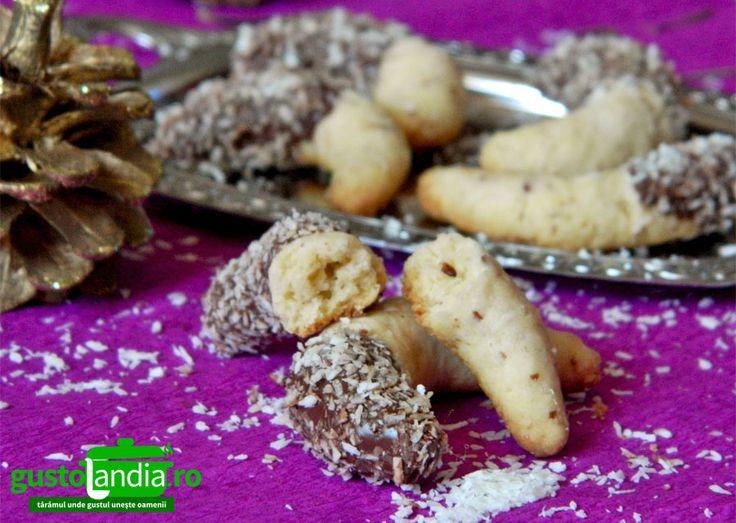 Cornulete cu nuca de cocos