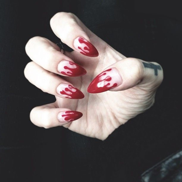 blood stained nails on instagram