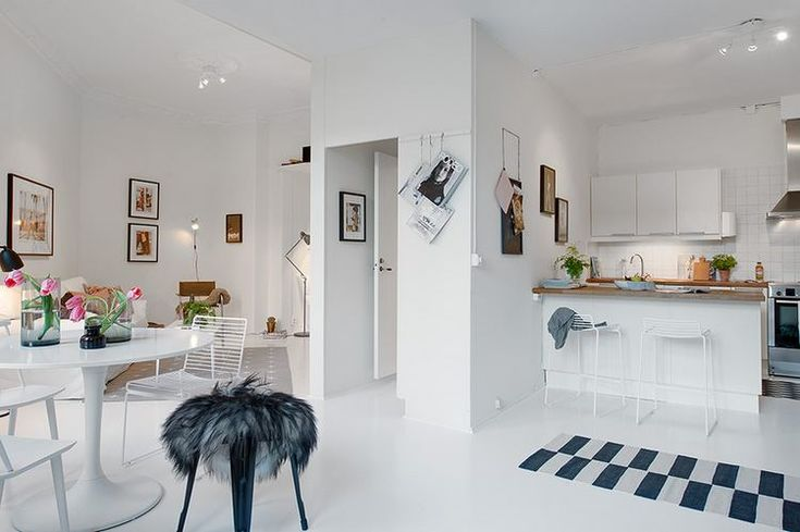 50sqm apartment with sparkling white floors