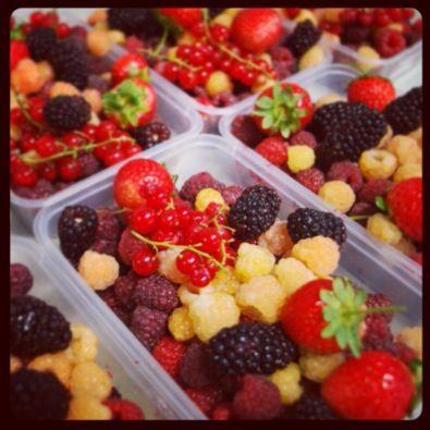 Yummy mixed berries from @westerwayraspberryfarm - roll on season 2013/2014!