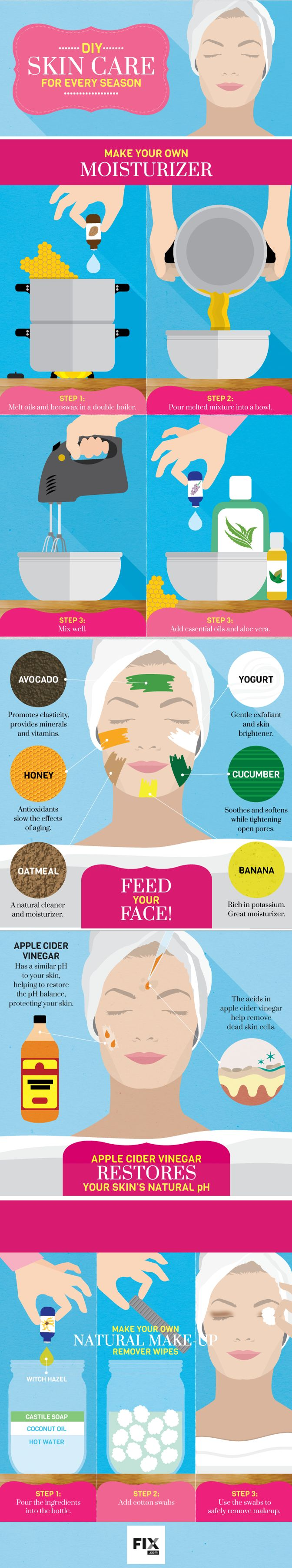 DIY Skin Care for Every Season #infographic #Skincare #Health