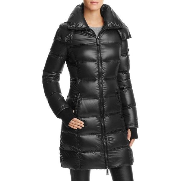 Bcbgmaxazria Long Puffer Coat - Compare at $328 ($140) ❤ liked on Polyvore featuring outerwear, coats, black, bcbgmaxazria, puffer coat, long coat, puffy coat and long puffer coat
