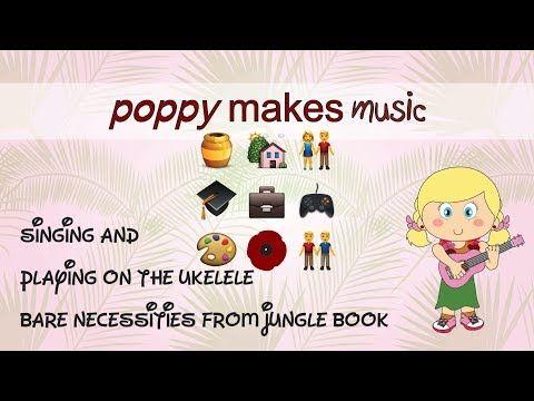 Poppy Makes Music... singing and playing: bare necessities from jungle book. On my YouTube channel (link in bio) I have posted a new uke sing-along/play-along video. Have fun!  #PoppyMakes #PoppyMakesMusic #Ukelele #Ukulele #Ukulelei #Uke #Uku #UkeleleCover #UkeLife #UkulelePlayer #Disney #WaltDisney #JungleBook #TheJungleBook #Mowgli #Baloo #Bagheera #Kaa #ShereKhan #Akela #BareNecessities #Song #Sing #Acoustic #Video #Singalong #Playalong #LinkInBio #Follow #Like
