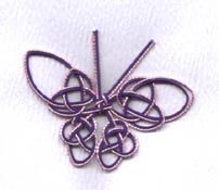 mizuhiki knotted butterfly ... purple and lavender ...