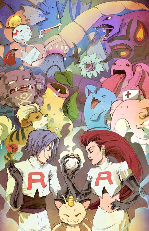 trydain:   And here is my team rocket print. I... | The Original Pokemon Community!