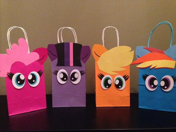 12 1 DOZEN MLP inspired favor bags by CustomizeMee on Etsy