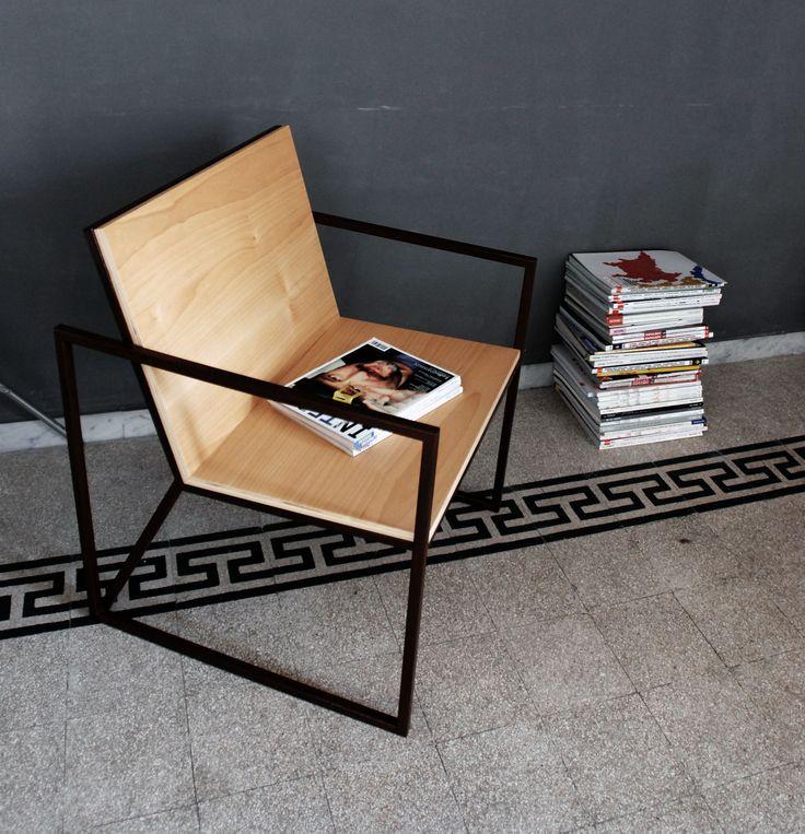 #sedia #chair #design #ferro #legno #steel #wood #telaio #frame