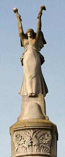 Monument à Romilly-sur-Seine . Aube. Champagne
