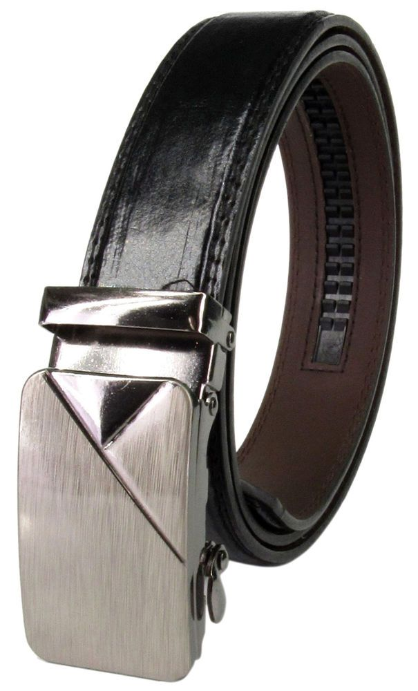Mens Fashion Metal Belt Buckle Luxury Leather Automatic NO Waist Strap Waistband