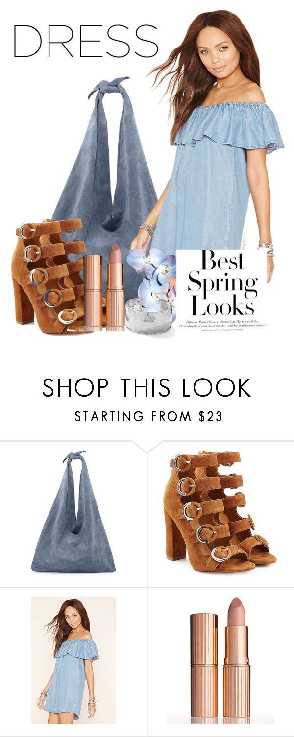 """""""#springdress #offshoulder spring towards the sky"""" by juanita-cherrell-taylor ❤ liked on Polyvore featuring The Row, Kendall + Kylie, Forever 21, H&M, Charlotte Tilbury and Ippolita"""