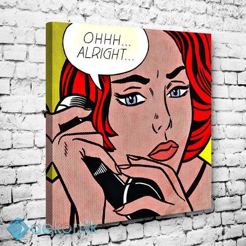 Alright Tablo #pop_art_kanvas_tablo #ünlü_tabloları