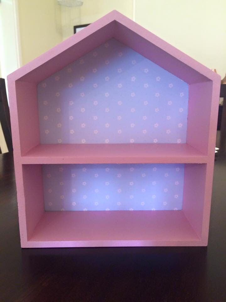Kmart shadow box painted with paper backing