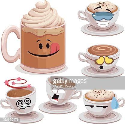 Coffee Cartoon Set A