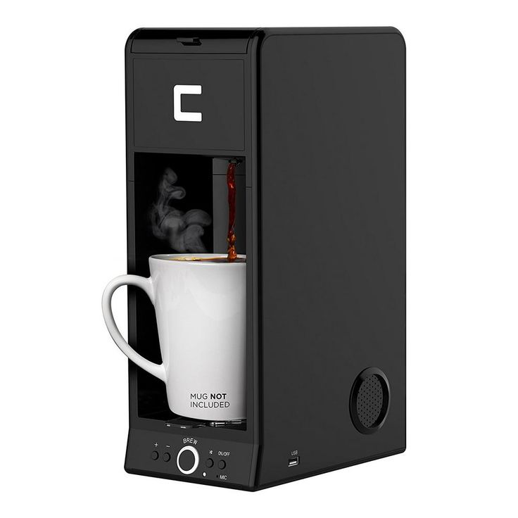 1-Cup Bluetooth Enabled Single Serve Coffee Maker, Black