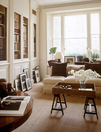 A bit formal but love the overall look with the bookcases