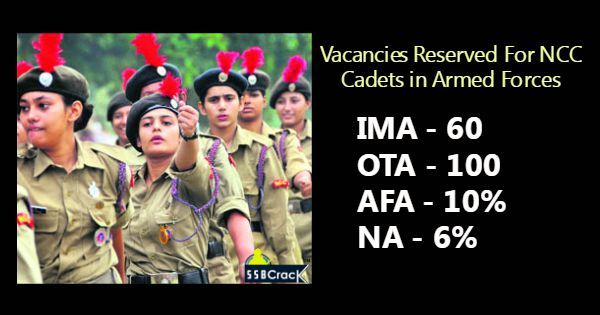 Vacancies Reserved For NCC Cadets In Armed Forces. We get many emails from candidates asking us about NCC (National Cadet Corps) and its advantage in ssb interview.
