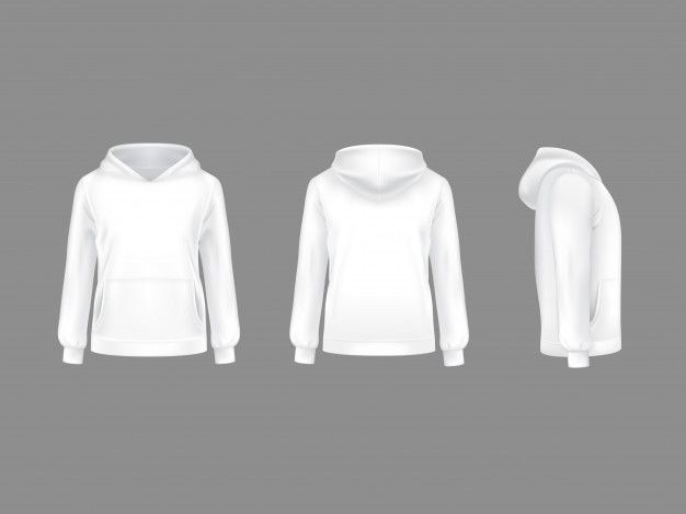 Download Hoodie Sweatshirt White 3d Realistic Mockup Template White Sweatshirt Custom Clothes Sweatshirts Hoodie